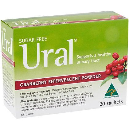 Ural Effervescentpowder Sachets Cranberry 20 pack