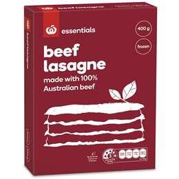 Essentials Frozen Beef Lasagne 400g
