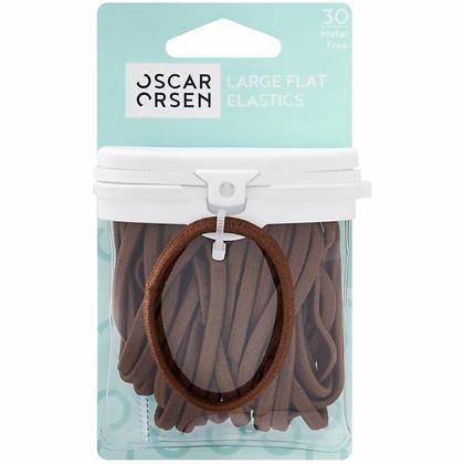 Oscar Orsen Large Snagless Hair Elastics Brown 30 pack