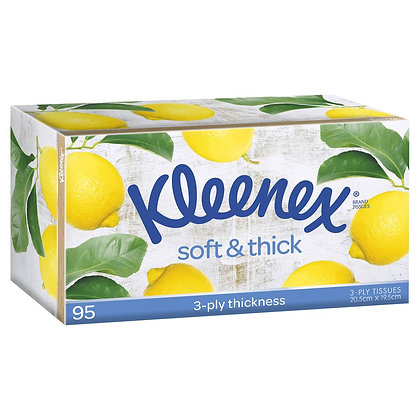 Kleenex Facial Tissue Soft & Thick 95 pack