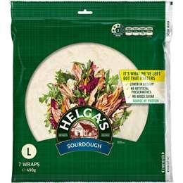 Helga's Sourdough Wraps 7 pack
