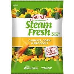 Heinz Steam Fresh Carrot Corn & Broccoli 450g