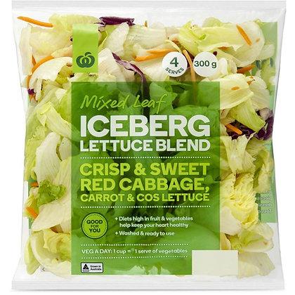 Woolworths Mixed Leaf Iceberg Lettuce Blend 300g