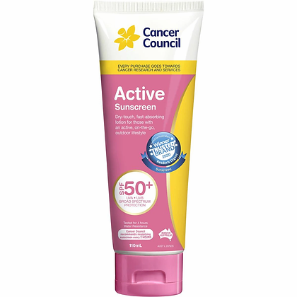 Cancer Council Active Pink Sunscreen Spf 50 Plus 110ml