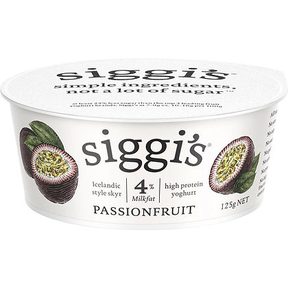 Siggi's 4% Milkfat Yoghurt Passionfruit 125g