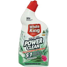 White King Power Clean Toilet Cleaner Bleach Gel Eucalyptus 700ml