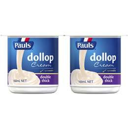 Pauls Thickened Cream Dollop (2pk X 160ml) 320ml