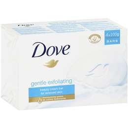 Dove Beauty Soap Bar Exfoliating 4x100g