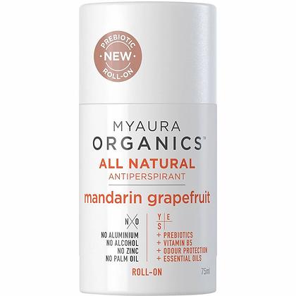 Myaura Antiperspirant Roll On Deodorant Mandarin Grapefruit 75ml