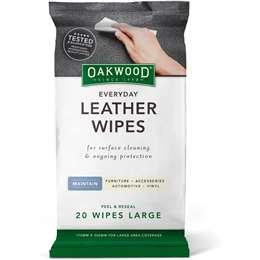 Oakwood Leather Polish Conditioner Wipes 20 pack