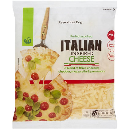 Woolworths Italian Cheese Blend 250g