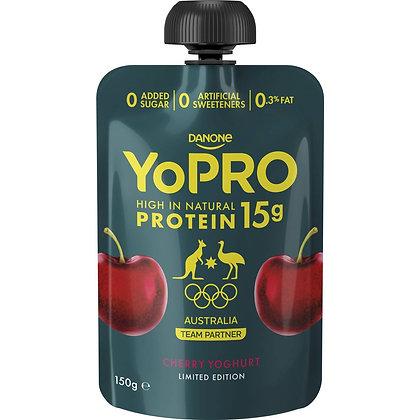 Danone Yopro Protein 15g Cherry Yoghurt 150g