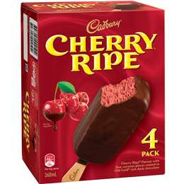 Cadbury Cherry Ripe Ice Cream Sticks 4 pack