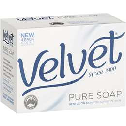 Velvet Bar Soap Pure 4pk 400g