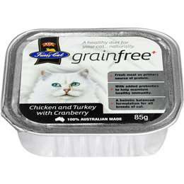 Vip Fussy Cat Grain Free Chicken & Turckey With Cranberry Cat Food 85g
