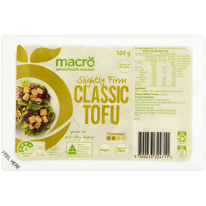 Macro Classic Tofu Regular 500g