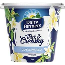 Dairy Farmers Classic Vanilla Yoghurt 600g
