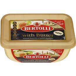 Bertolli With Butter Margarine And A Pinch Of Sea Salt 400g