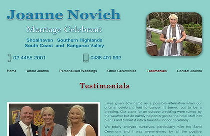 Joanne Novich Celebrant Kangaroo Valley, NSW