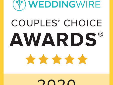 3rd Year in A Row Winning Wedding Wire Couples' Choice Award!