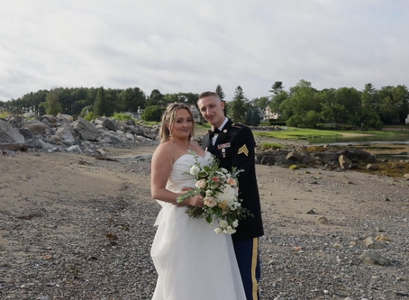New Hampshire Seaside Wedding During a Summer Storm!