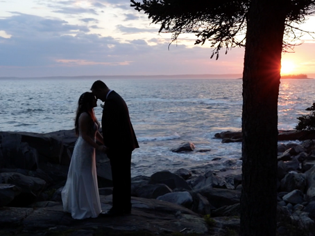 You can't beat this Maine wedding venue view!