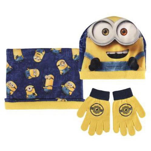 Set gorro, bufanda y guantes Minions