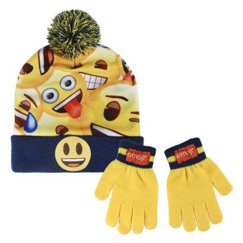 Set gorro y guantes Emoji