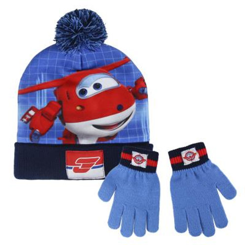Set gorro y guantes Super Wings