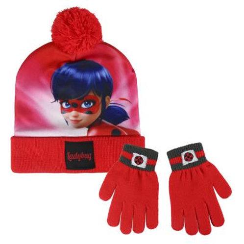 Set gorro y guantes Ladybug