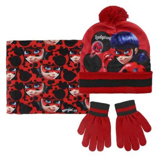 Set gorro, bufanda y guantes Ladybug