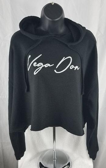 Vega Don Crop Hoodie-Signature Logo