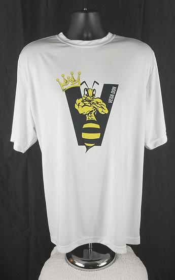 Vega Don White T-Shirts -Bee Logo (S-M-L-XL-2XL)