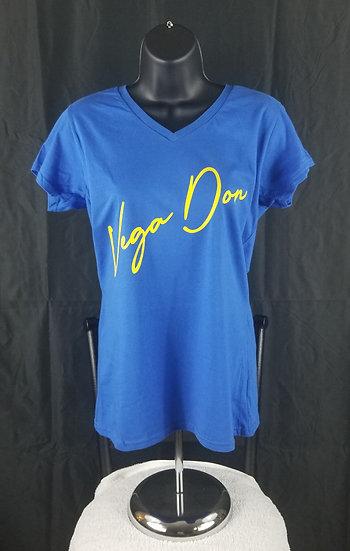 Vega Don Women's Royal Blue Tshirt w Signature (S-M-L-XL-2XL)