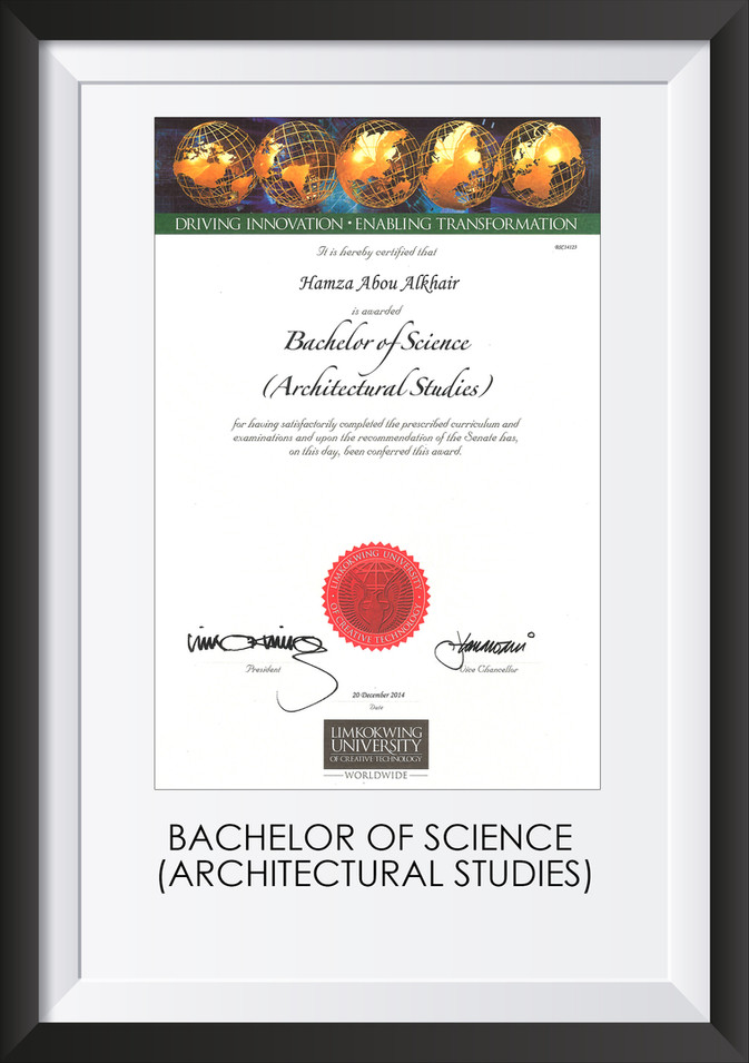 Bachelor Of Science (Architectural Studies)