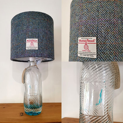 Harris gin bottle lamp with shade