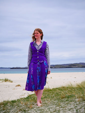 bespoke harris tweed waistcoat and skirt