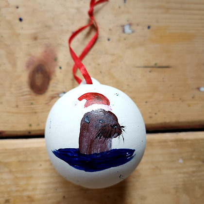 Handpainted Christmas Bauble made to order