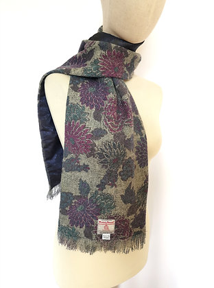 RESERVED FOR WILMA Liberty pattern Harris tweed scarf