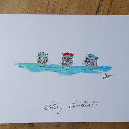 Single Christmas card made to order