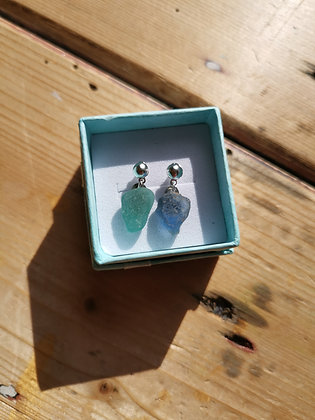 Sea Glass stud earrings