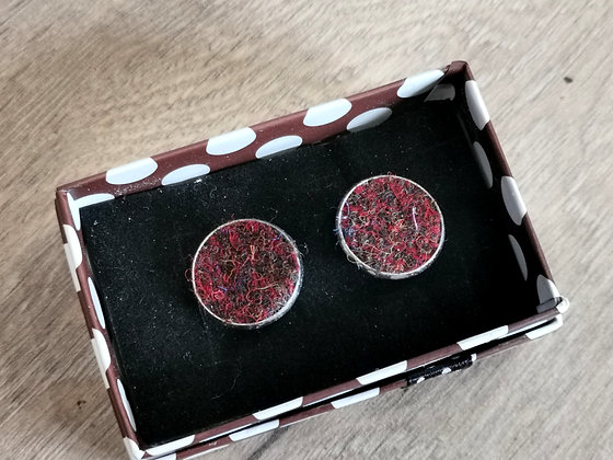 Harris tweed cufflinks