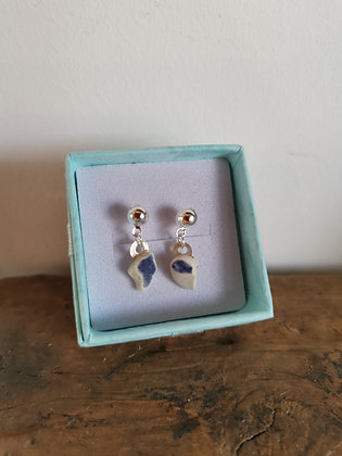 Sea Pottery Stud Earrings