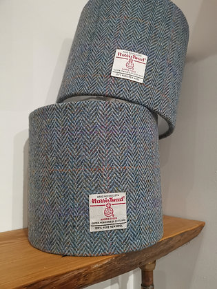 Pair of Harris Tweed Lampshades