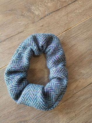 Harris tweed hair scrunchie