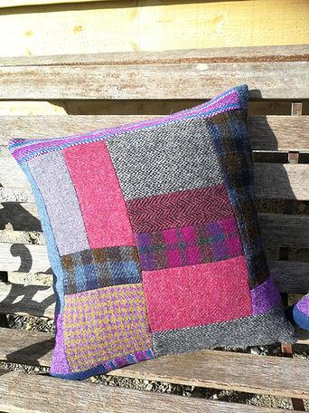 harris tweed cushion