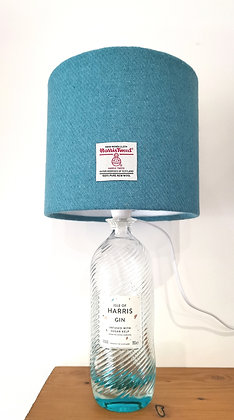 Harris gin bottle lamp with shade of choice