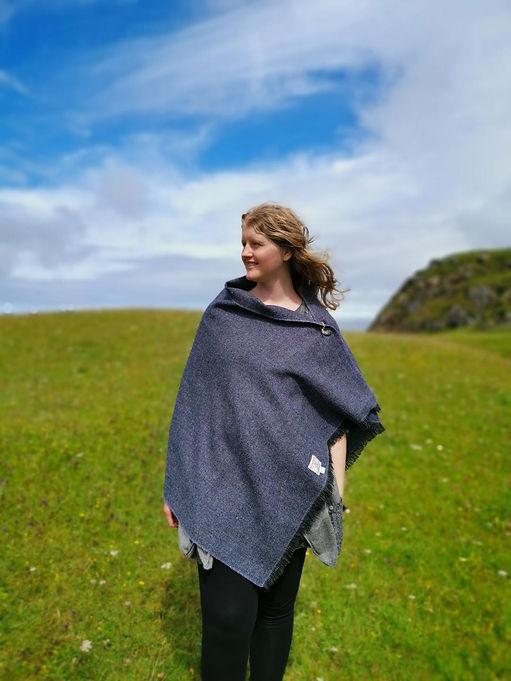 handwoven harris tweed shawl