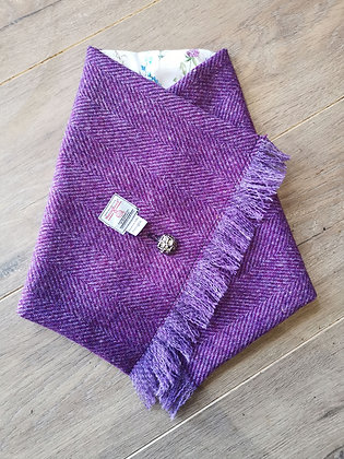 Harris tweed neck warmer