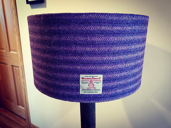 Made to order Extra large harris tweed lampshade